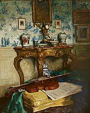 PAUL HUGUES,1891- CIRCA 1950Interior Scene with Violin