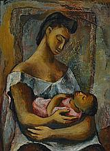 DONALD FRIEND 1915-1989 Mother and Child 1947 oil on canvas
