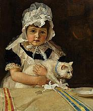 TOM ROBERTS 1856-1931 Miss Minna Simpson (1886) oil on canvas