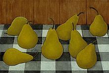 GEOFF JONES 1909-1993 Pears (1975) oil on glass