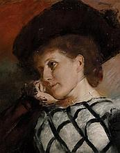 TOM ROBERTS 1856-1931 Mrs Jacob Eccles 1899 pastel on paper