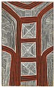 Kaapa (Mbitjana) Tjampitjinpa circa 1920-1989 CORROBOREE AND BODY DECORATION (1972) natural earth pigments and bondcrete on composit...