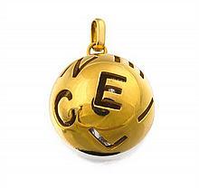 18ct gold pendant charm, Céline