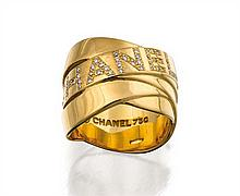 18ct gold and diamond ring, Chanel