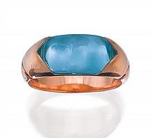 18ct gold and blue topaz 'Tronchetto' ring, Bulgari