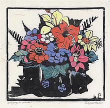 MARGARET PRESTON 1875-1963 Hibiscus 1925 hand-coloured woodcut on paper