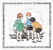 ETHEL SPOWERS 1890-1947 Nursery Rhyme 1927 colour linocut on paper
