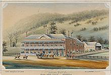 WILLIAM TIBBITTS 1837-1906 Royal Hotel, Ferntree Gully Victoria watercolour, pen and ink on paper