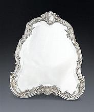 A lady's French silver plated dressing table mirror, mark of Boin Tabouret, Paris, circa 1895