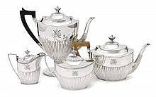 A silver plated tea and coffee service, S & Co, circa 1910 (4)