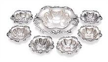 A suite of American sterling silver bon bon dishes, Reed and Barton, Massachusetts, circa 1900 (7)