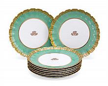 A Copeland dessert set for eight, Spode Copeland's China, circa 1900 (8)
