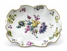 A Meissen porcelain tray, 19th century