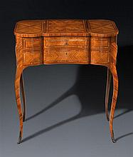 A Louis XV style tulipwood table coiffeuse, circa 1890