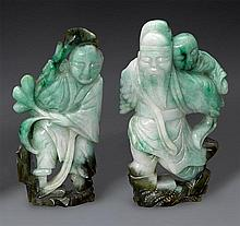 Two jadeite figures (2)