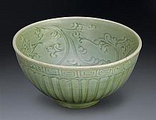 A 'Longquan' celadon bowl, Ming dynasty