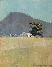 HARRY GARLICK 1878-1910 Shiel's Paddock 1902 oil on board