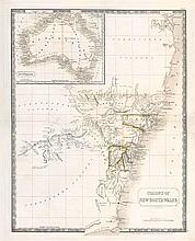 ARTIST UNKNOWN Map of the Colony of New South Wales 1830 lithograph on paper