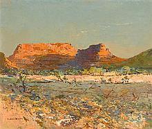 RUBERY BENNETT 1893-1987 Palm Valley, Central Australia (circa 1950) oil on board
