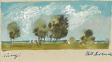 WILLIAM DOBELL 1899-1970 Wangi watercolour on paper