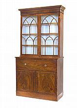 A George IV mahogany secretaire bookcase, circa 1825