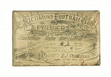 The Changi prison Australian rules football association premiers trophy plaque, 1942
