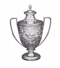 A George III sterling silver lidded cup, John Emes, London, 1806