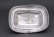 A George III sterling silver cake basket, Rebecca Emes and Edward Barnard, London, 1809