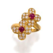 18ct gold, ruby and diamond ring, Van Cleef & Arpels, circa 1990