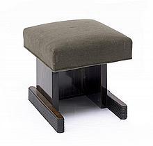 André Sornay cushion top stool, circa 1930