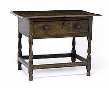 A George II oak side table, circa 1730