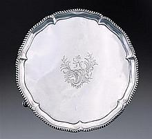 A George III silver salver, Richard Rugg, London 1763
