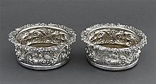A pair of George III decanter coasters, John Roberts & Co., Sheffield 1816-1819 (2)