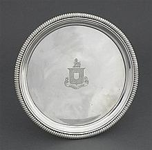 A George III silver salver, Thomas Hannam and John Carter, London 1803