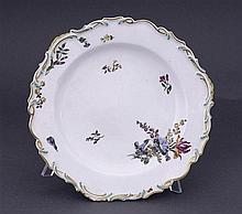 A Chelsea plate, circa 1765