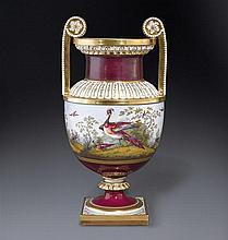 A fine Flight Barr and Barr Worcester vase by George Davis, circa 1815-1820