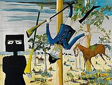 SIDNEY NOLAN 1917-1992 TAPECARIAS DE PORTALEGREEstablished 1948 (manufacturer)Ned Kelly (Death of Constable Scanlon) (1973) wool and...