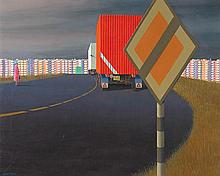 JEFFREY SMART 1921-2013 Radial Road (1972) oil on canvas