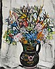 MARGARET PRESTON 1875-1963 Black Jug with Kangaroo Paws 1956 oil on canvas