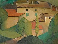 DORRIT BLACK 1891-1951 The Pink House (1928) oil on canvas on cardboard