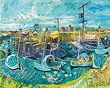 JOHN PERCEVAL 1923-2000 Fisherman's Inlet, Tooradin 1967 oil on canvas