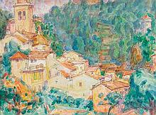 JOHN RUSSELL 1858-1930 Monastery at Portofino 1920 watercolour over pencil on paper