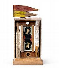 ROSALIE GASCOIGNE 1917-1999 The Gallery Man (1978) wood, painted wood and collage