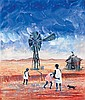ARTHUR BOYD 1920-1999 Aboriginal Children and Windmill (1960) tempera on composition board
