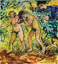 ARTHUR BOYD 1920-1999 The Expulsion (1952) glazed ceramic tile