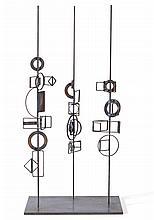 ROBERT KLIPPEL 1920-2001 No. 283B Trilogy (1973) brazed steel construction, geometric sections