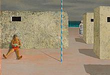JEFFREY SMART 1921-2013 San Cataldo II 1964 oil on composition board