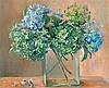 § MARGARET OLLEY 1923-2011 Hydrangeas (1970) oil on composition board