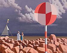 JEFFREY SMART 1921-2013 Dampier II (1966-1967) oil on canvas