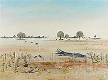 ARTHUR BOYD 1920-1999 She-oaks, Wimmera (circa 1975) oil on composition board